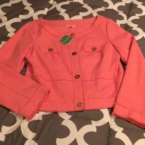 Lilly Pulitzer Millie Jacket in Ginger Orange